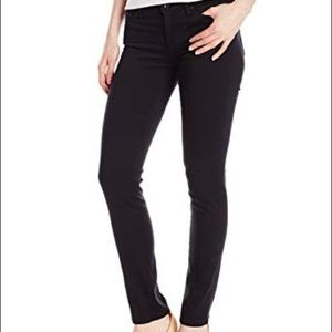 AG the Stilt Cigarette Leg Black Sateen Pants